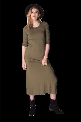 Długa zielona sukienka Boho...