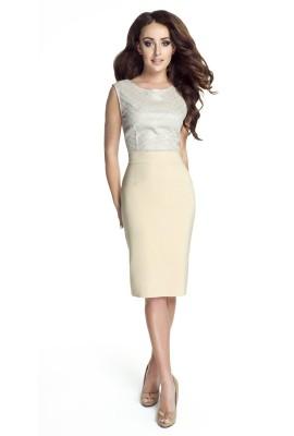 Elegancka sukienka z błyszczącą koronką