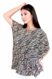 Szyfonowa bluzka wiązana w pasie