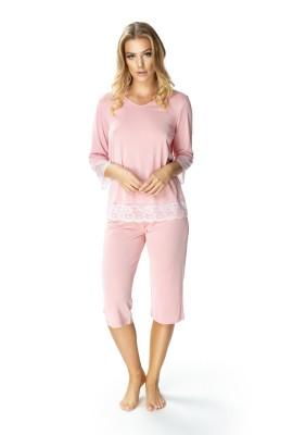 Różowa dwuczęściowa piżama...